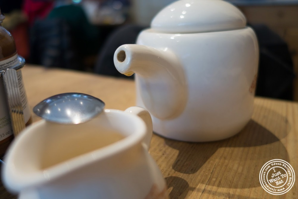 image of tea at Le Pain Quotidien in Tribeca, NYC