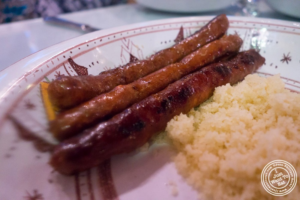 image of merguez sausages at Le Marrakech, Moroccan restaurant in Grenoble, France