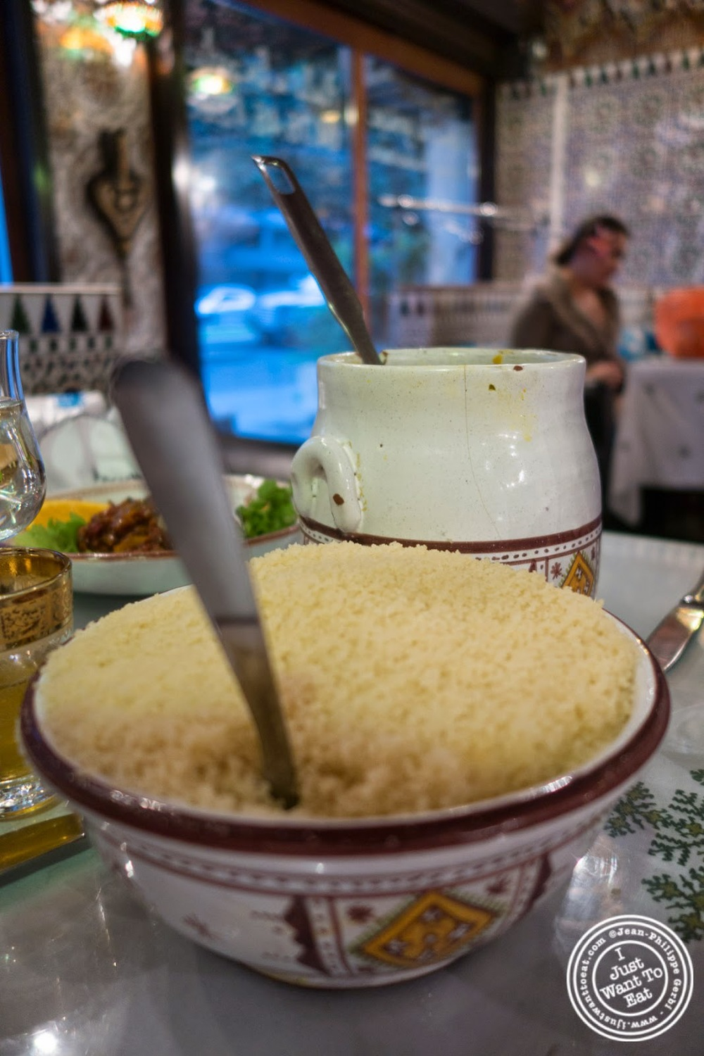 image of vegetarian couscous at Le Marrakech, Moroccan restaurant in Grenoble, France