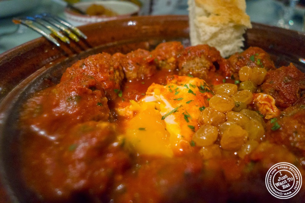 image of egg and kefta tagine at Le Marrakech, Moroccan restaurant in Grenoble, France