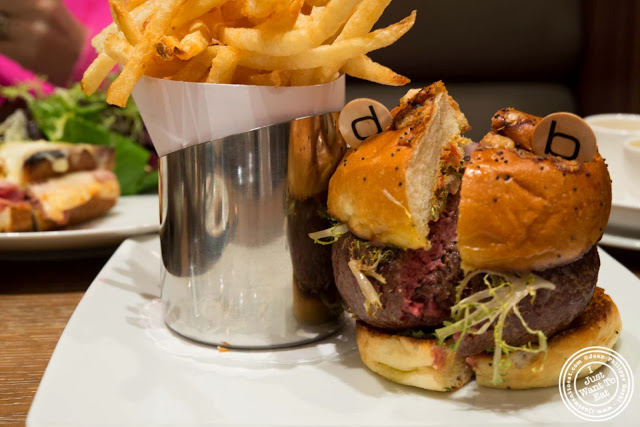burger at DB Bistro Modern in NYC, New York