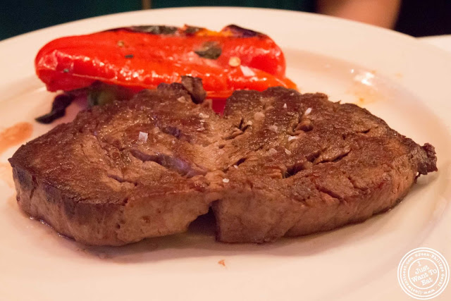 image of filet mignon at Keens Steakhouse in NYC, New York