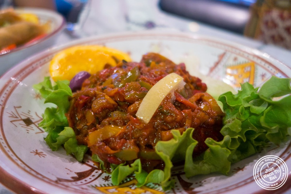 image of salad Mechouiah at Le Marrakech, Moroccan restaurant in Grenoble, France