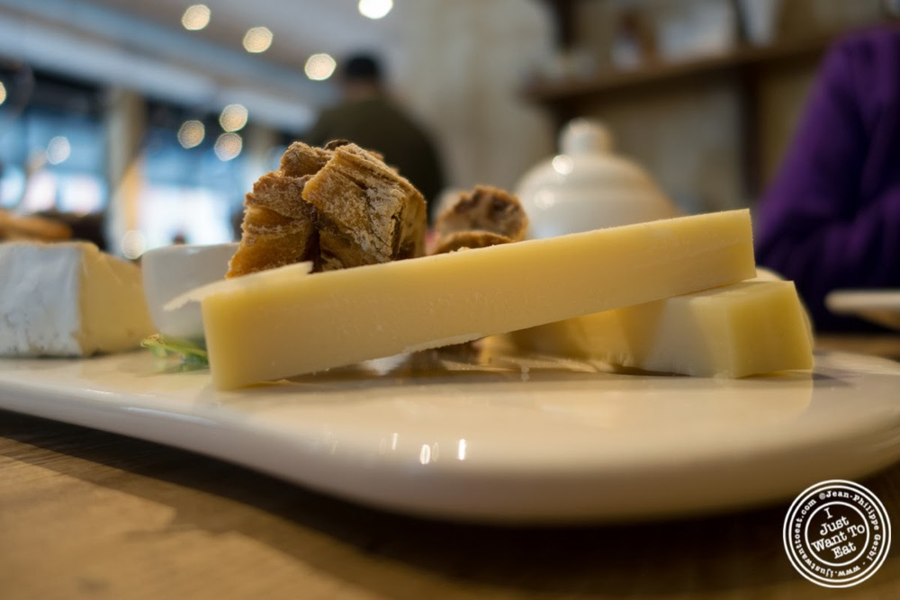 image of aged gruyere at Le Pain Quotidien in Tribeca, NYC