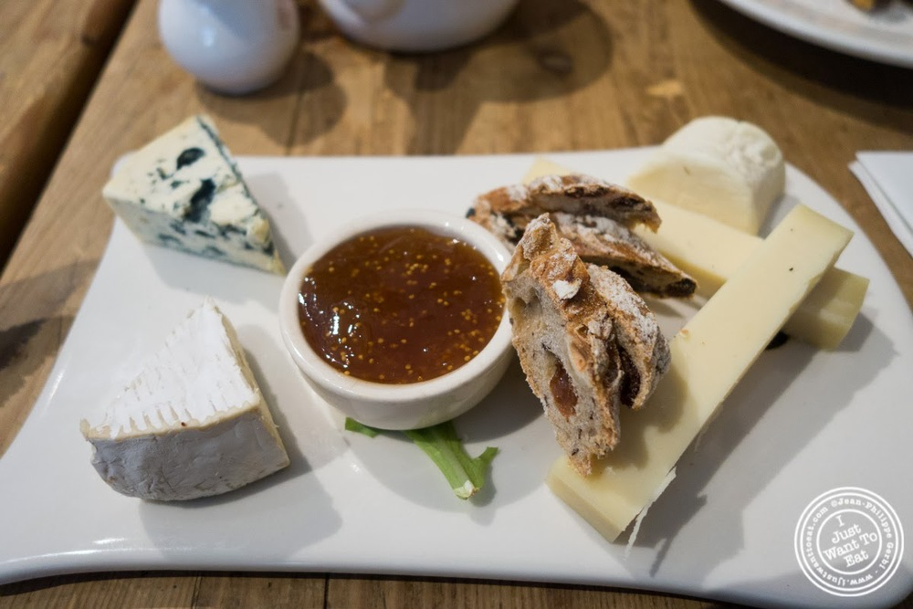 image of cheese plate at Le Pain Quotidien in Tribeca, NYC