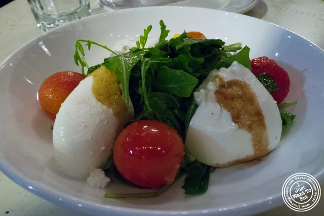 image of Burrata Caprese salad at Il Forno Hell's Kitchen in NYC, New York