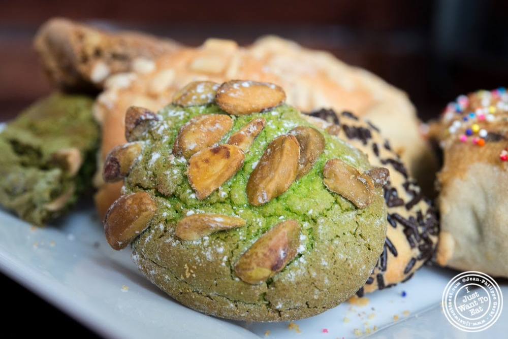 image of pistachio at Fortunato Brothers, Italian Bakery in Williamburg, Brooklyn, NY