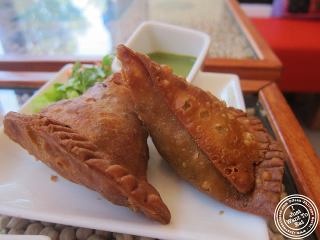 lamb samosa at Hoboken Dhaba, New Jersey NJ