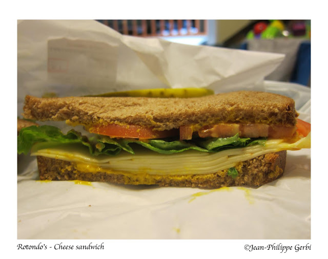 Image of Cheese sandwich at Rotondo's deli in Rahway, NJ New Jersey