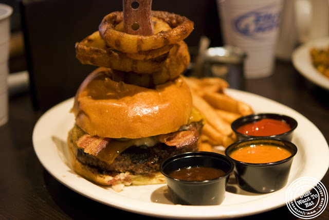 Image of One pound angus burger at Hoboken Bar and Grill in Hoboken, NJ
