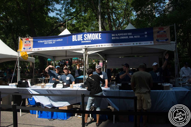image of Blue Smoke stand at 11th Annual Big Apple BBQ Block Party at Madison Square Park!