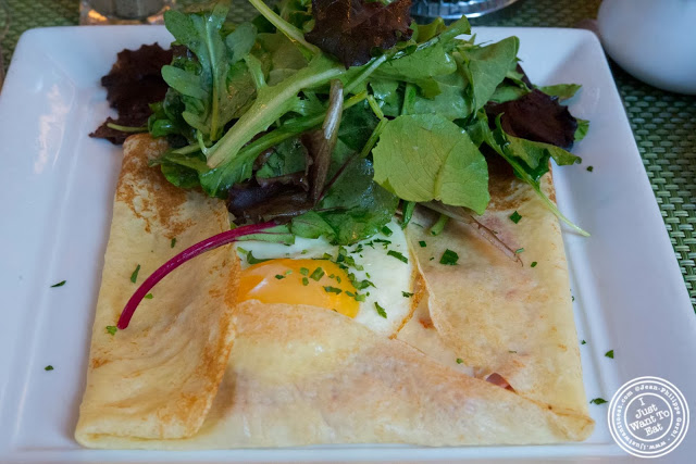 image of Ham and cheese crepe at Maison French Brasserie, NYC, New York