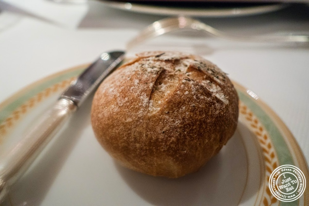 image of bread with sel de Guerande at Pierre in Macon Bourgogne, France