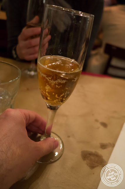 image of ginger beer at  Dark Dining Projects - blindfolded dinner at Camaje bistro in Greenwich Village, NYC, New York