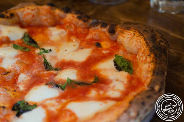Image of Margherita pizza at San Matteo Pizza and Expresso Bar in NYC, New York