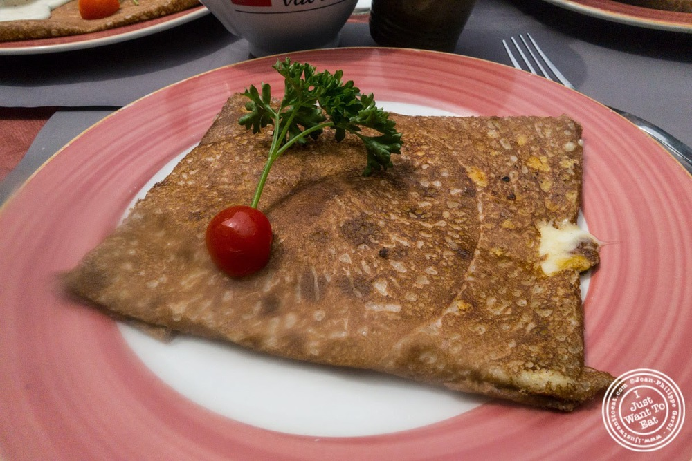 image of three cheese crepe at La Crêperie de Gordes in Grenoble, France