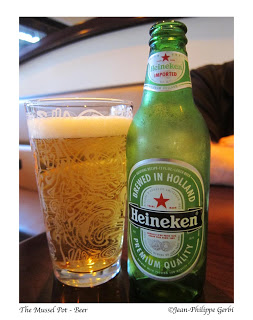 Image of Heineken beer at The Mussel Pot in Greenwich Village NYC, New York