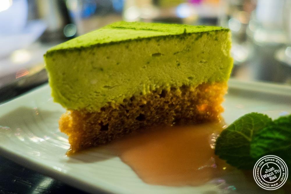 image of green tea tiramisu at Nipponista Maison O in Soho, NYC, New York