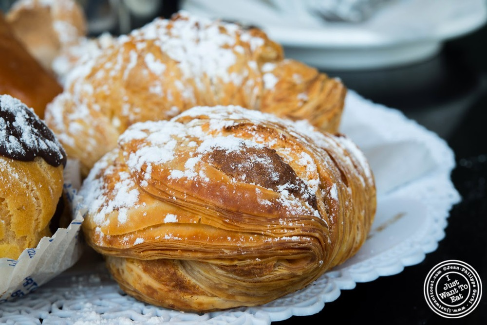 image of Sfogliatelle at Fortunato Brothers, Italian Bakery in Williamburg, Brooklyn, NY