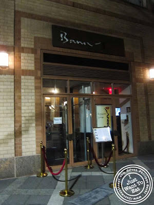 Image of Entrance of Bann Korean BBQ in NYC, New York