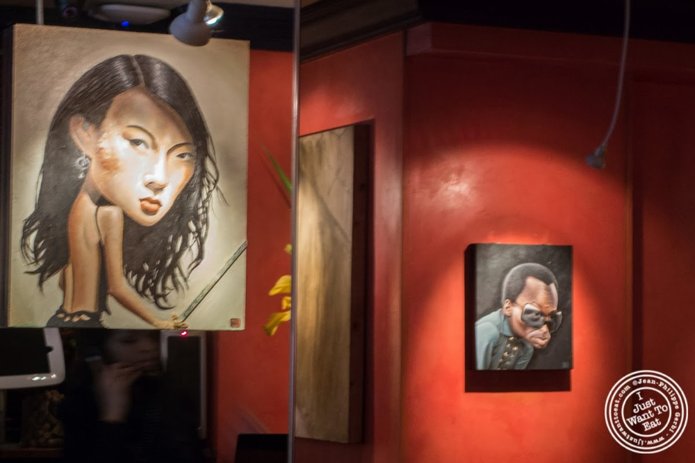 image of Jeanette Lee Black Widow and Miles Davis at Faces and Names in Midtown NYC