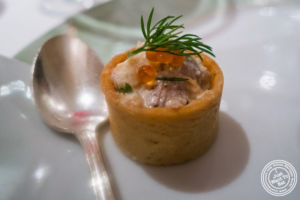image of fish rillettes at Pierre in Macon Bourgogne, France