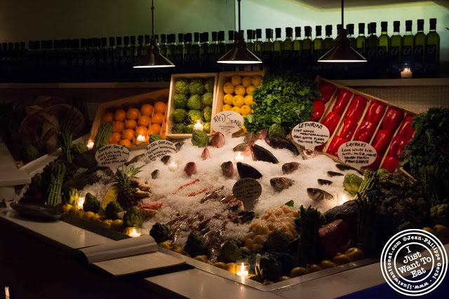 Image of fish display at Thalassa Greek restaurant in Tribeca NYC, New York