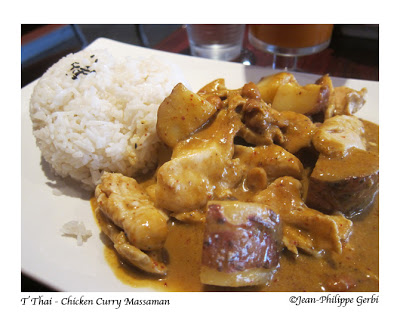 Image of Chicken Curry Massaman at T Thai restaurant in Hoboken, New Jersey NJ