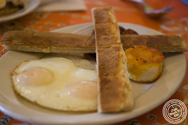Image of eggs and chorizo, ham at Zafra's in Hoboken, NJ