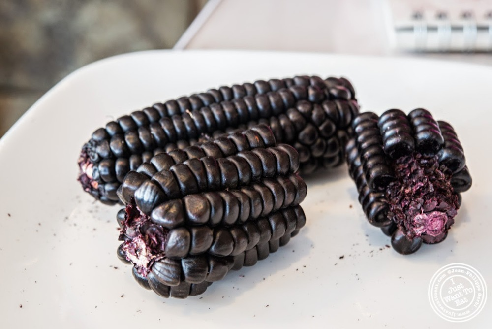 image of Purple corn at El Anzuelo Fino in Woodhaven, NY