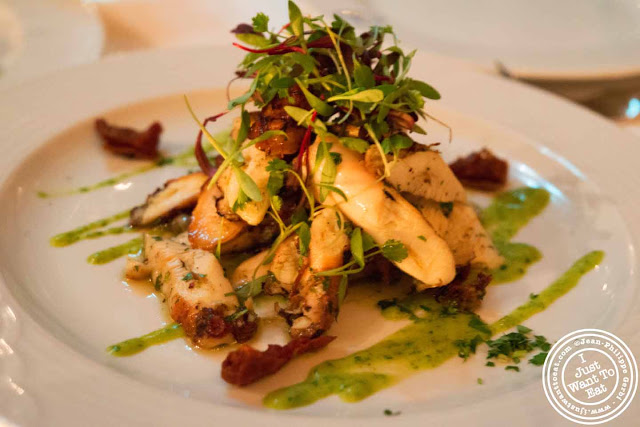 Image of Grilled octopus at Thalassa Greek restaurant in Tribeca NYC, New York