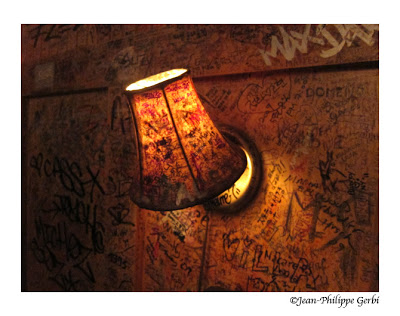 Image of a lamp at Burger Joint at Le Parker Meridien, NYC, New York