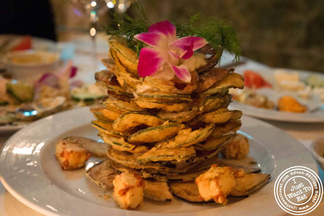 Image of Zucchini and eggplant chips at Thalassa Greek restaurant in Tribeca NYC, New York
