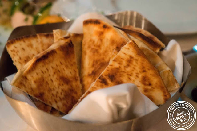 Image of Pita at Thalassa Greek restaurant in Tribeca NYC, New York