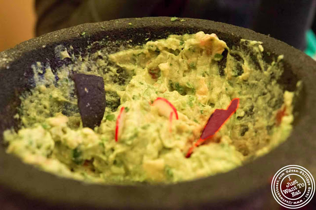 image of guacamole at Trece Mexican Restaurant in NYC, New York