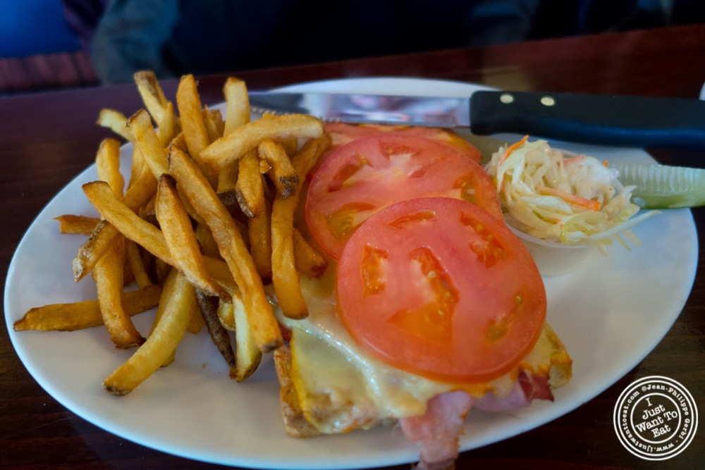 image of grilled ham and muenster sandwich at Helmer's in Hoboken, NJ