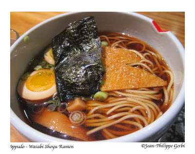 Image of Wasabi Shoyu Ramen at Ippudo ramen in the East Village, NYC, New York