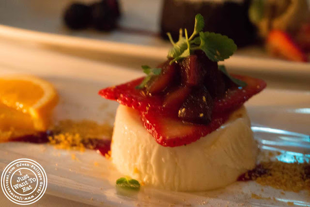 Image of Panna cotta at Thalassa Greek restaurant in Tribeca NYC, New York