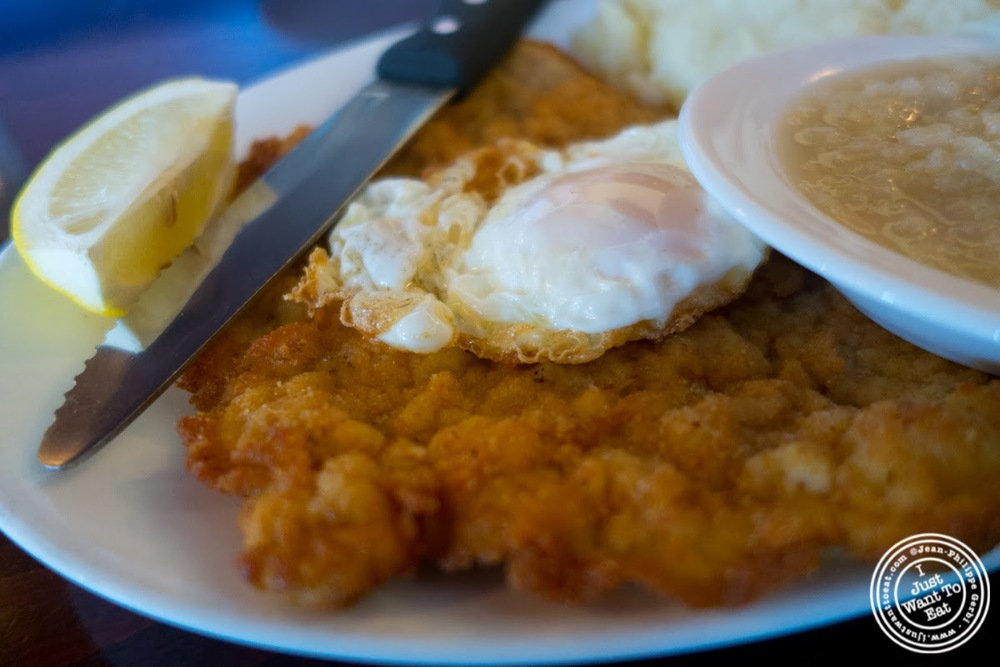 image of Wienerschnitzel ala holstein at Helmer's in Hoboken, NJ