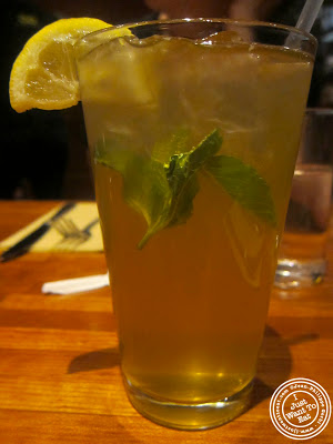 Image of Mint iced tea at Nanoosh Mediterranean Cuisine in Greenwich Village, NYC, New York