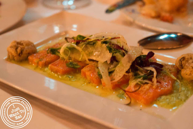 Image of Arctic char at Thalassa Greek restaurant in Tribeca NYC, New York