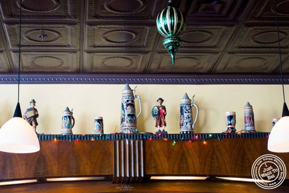 image of beer steins at Helmer's in Hoboken, NJ