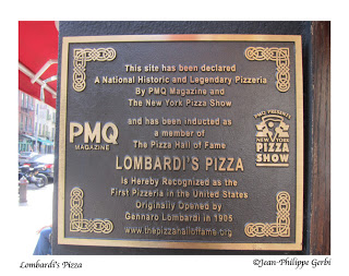 Image of the Sign about Lombardi's Pizza in NYC, New York - the oldest pizzeria in the US