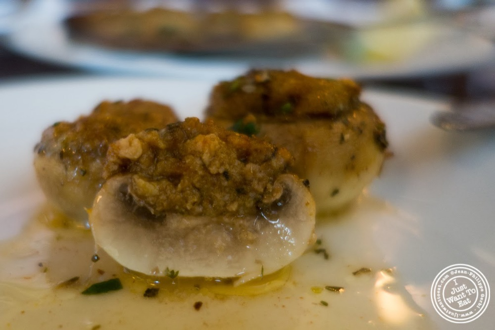 image of stuffed mushrooms at Helmer's in Hoboken, NJ