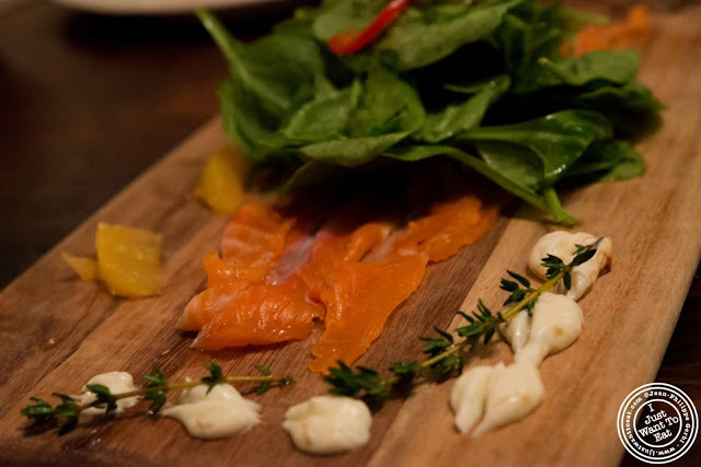Salmon Carpaccio at Abbottega, Italian Restaurant in NYC, New York