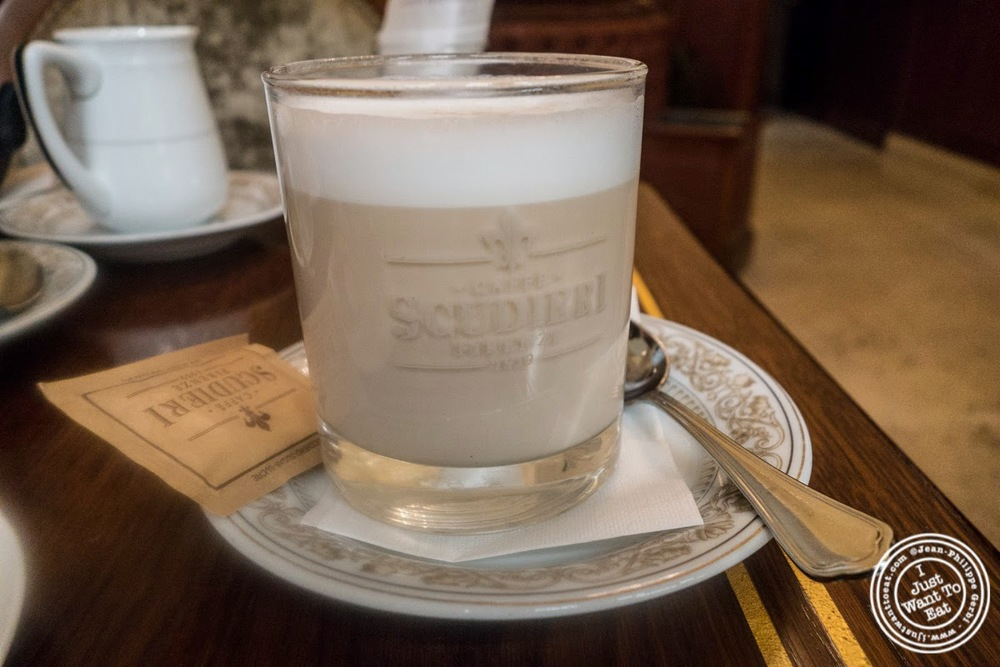 image of macchiato at Caffè Scudieri in Florence, Italy