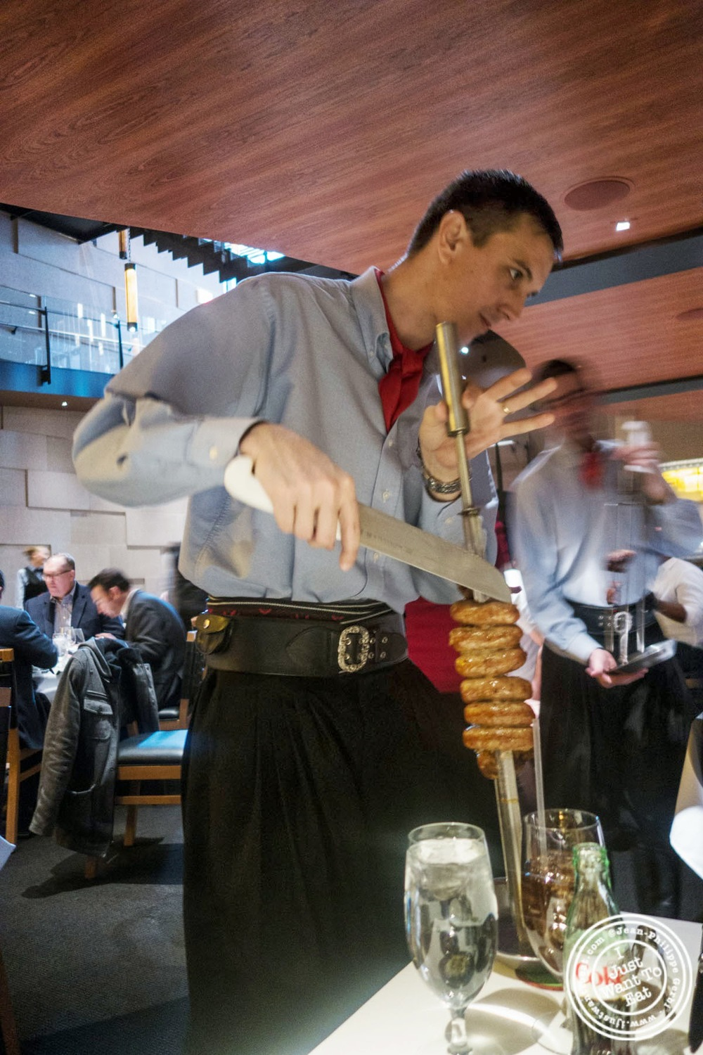 image of churrasco at Fogo De Chao Brazilian steakhouse in NYC, New York