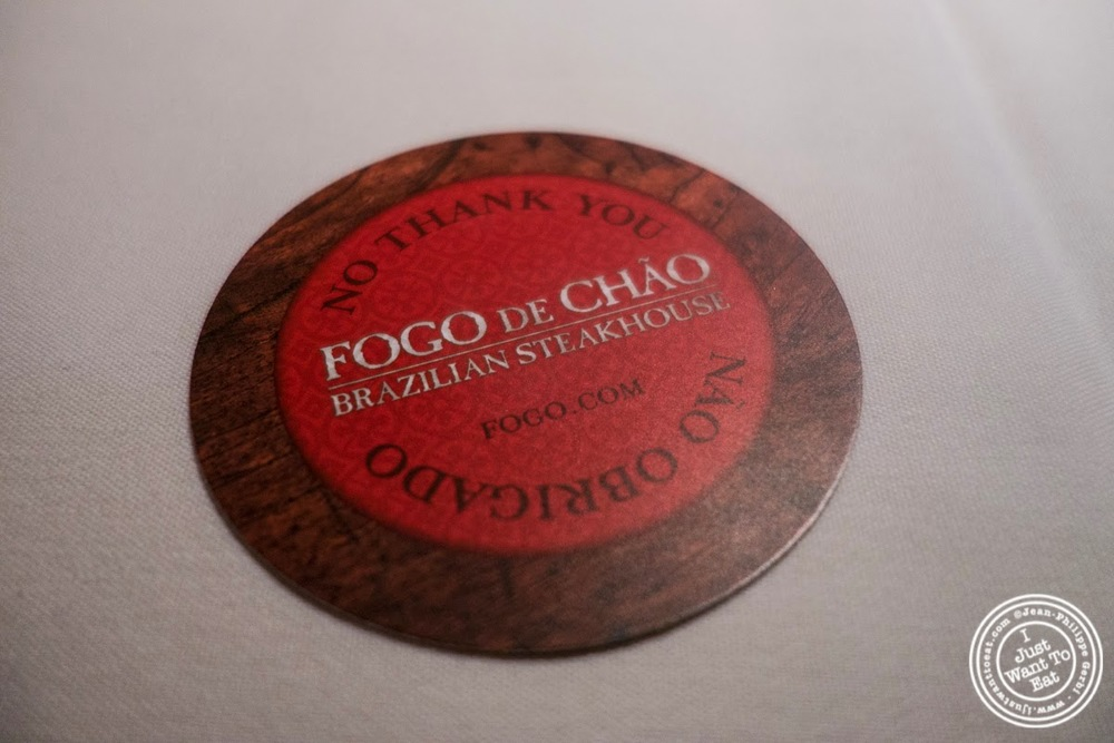 image of chip at Fogo De Chao Brazilian steakhouse in NYC, New York