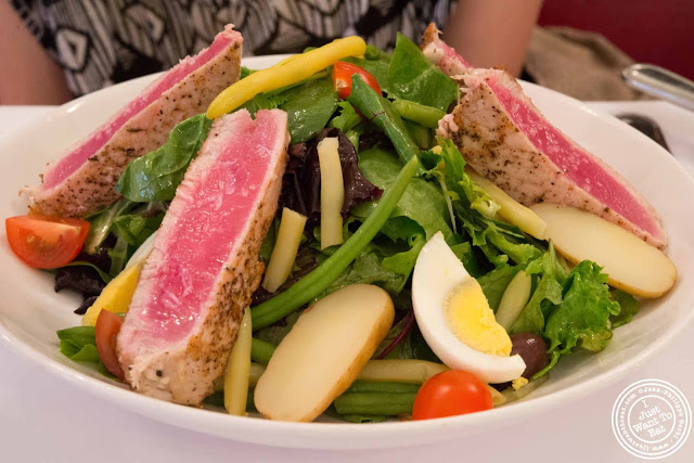 image of salade nicoise at Jacques Brasserie , NYC, New York