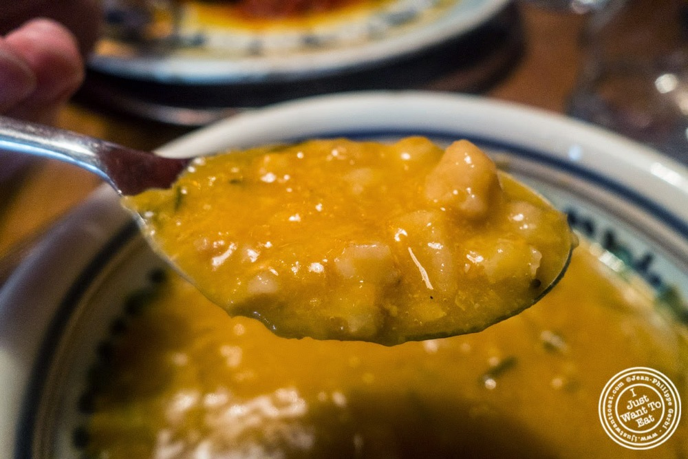 image of Minestra di Farro or spelt beans soup at Osteria Santo Spirito in Florence, Italy